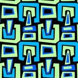 Sömlös stads- skraj textilmodell stock illustrationer
