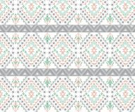 Sömlös stam- modell för vektor Stilfulla Art Ethnic Print Ornament med trianglar, vektor illustrationer