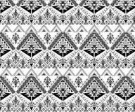 Sömlös stam- modell för vektor Stilfulla Art Ethnic Print Ornament med trianglar, royaltyfri illustrationer