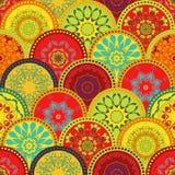Sömlös stam- texturuppsättning Stam- sömlös textur Etnisk sömlös bakgrund för tappning Boho band Randig tappningboho Arkivfoton