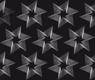 Sömlös stjärnamodell på svart bakgrund Royaltyfri Foto