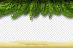 Sömlös strandgräns vektor Royaltyfria Bilder