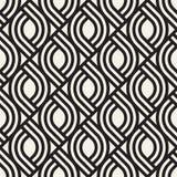 Sömlös subtil gallermodell för vektor Modern stilfull textur med monokrom spaljé Upprepa geometriskt raster Arkivbild