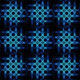 Sömlös suddig cirkelmodellturkosblå svart Fotografering för Bildbyråer