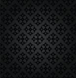 Sömlös svart blom- damast tapetmodell Arkivbild