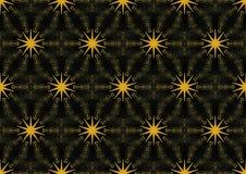 Sömlös svart för guld för stjärnamodell Royaltyfria Bilder