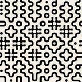Sömlös svart för vektor och Wite geometrisk modell Arkivbild