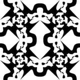 Sömlös svart marmortextur, dekorativa virvelstenciler royaltyfri illustrationer