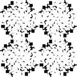 Sömlös svart marmortextur, dekorativa virvelstenciler Royaltyfria Bilder