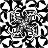 Sömlös svart marmortextur, dekorativa virvelstenciler vektor illustrationer