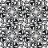 Sömlös svart marmortextur, dekorativa virvelstenciler Royaltyfri Fotografi