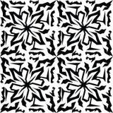 Sömlös svart marmortextur, dekorativa virvelstenciler Royaltyfria Foton