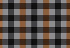 Sömlös svart- och brunttartan för vektor, tartanmodell Royaltyfri Bild