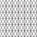 Sömlös svart - vit geometrisk modellöversikt Arkivfoto