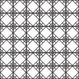 Sömlös svart - vit geometrisk modellöversikt Royaltyfri Fotografi