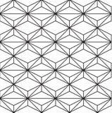 Sömlös svart - vit geometrisk modellöversikt Royaltyfria Foton