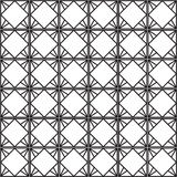 Sömlös svart - vit geometrisk modellöversikt Royaltyfri Bild