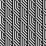 Sömlös svartvit avriven modell för op konst Arkivbild
