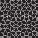Sömlös svartvit bakgrund med stjärnor Arkivfoton