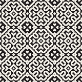 Sömlös svartvit etnisk geometrisk kvartermodell för vektor Arkivbild