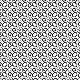 Sömlös svartvit geometrisk modell Fotografering för Bildbyråer