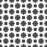 Sömlös svartvit geometrisk modell Royaltyfria Foton