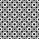 Sömlös svartvit geometrisk modell Royaltyfri Fotografi