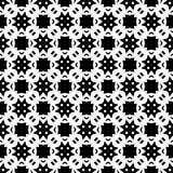 Sömlös svartvit geometrisk modell Arkivfoton