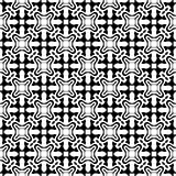 Sömlös svartvit geometrisk modell Royaltyfri Foto