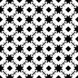 Sömlös svartvit geometrisk modell Royaltyfri Bild