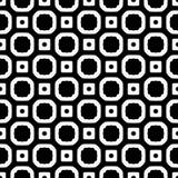 Sömlös svartvit geometrisk modell Arkivfoto