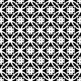 Sömlös svartvit geometrisk modell Royaltyfria Bilder
