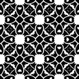 Sömlös svartvit geometrisk modell Arkivbilder