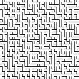 Sömlös svartvit geometrisk modell för raster Arkivbilder