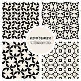 Sömlös svartvit geometrisk modellsamling för vektor Fotografering för Bildbyråer