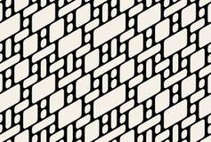 Sömlös svartvit geometrisk rundad modell för vektor Arkivfoto