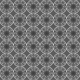 Sömlös svartvit geometrisk stjärnamodell vektor Royaltyfria Foton