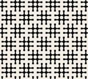 Sömlös svartvit Hashtag för vektor modell Royaltyfri Foto