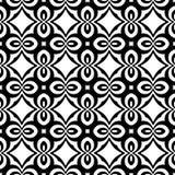 Sömlös svartvit kurvmodell för vektor abstrakt bakgrundswallpaper också vektor för coreldrawillustration vektor illustrationer
