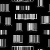 Sömlös svartvit modell med barcodes Royaltyfri Bild