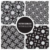 Sömlös svartvit modellsamling för vektor Royaltyfri Foto