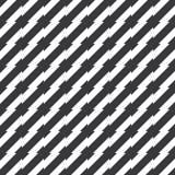 Sömlös svartvit ojämn spetsig bandmodellvektor Arkivbilder
