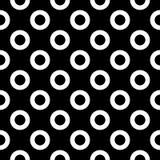 Sömlös svartvit rundad sexhörningslinje enkel modell för vektor för rasterhonungskaka vektor illustrationer