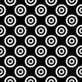 Sömlös svartvit rundad sexhörningslinje enkel modell för vektor för rasterhonungskaka stock illustrationer
