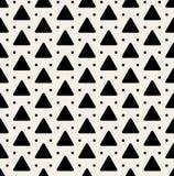 Sömlös svartvit rundad triangel Dots Pattern för vektor Royaltyfri Bild