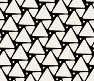 Sömlös svartvit rundad triangelmodell för vektor Arkivfoto