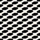 Sömlös svartvit sexhörnig Diadonal för vektor modell Arkivfoto