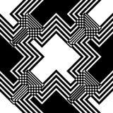 Sömlös svartvit vävmodelldesign Arkivfoto