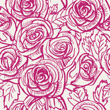 Sömlös tappning inspirerade Rose Pattern, vektor Arkivfoto