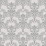 Sömlös tappningmodell i grå färger Royaltyfria Bilder